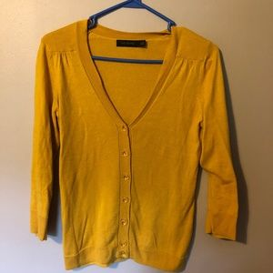 The Limited gold cardigan sweater